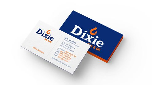 dixie gas business cards