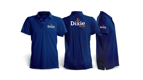 dixie gas polo shirts