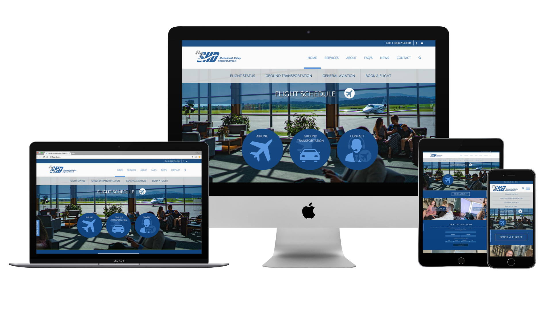 SHD Airport Web Design Web Development
