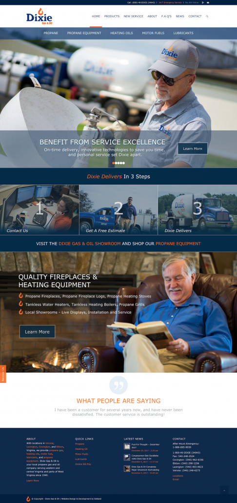 Dixie Gas & Oil: Rebrand & Website Design & Development