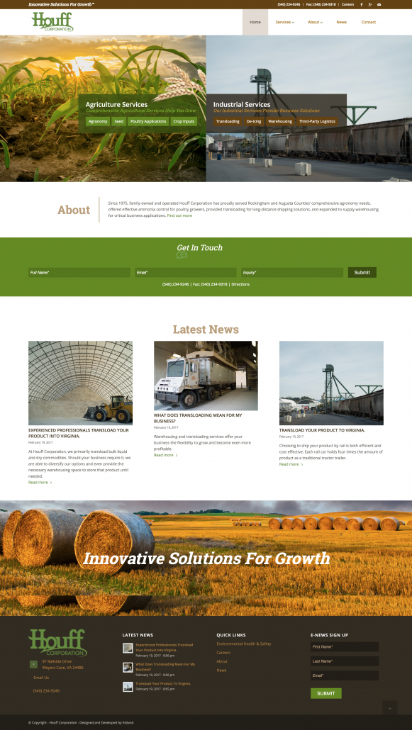 Houff Corporation: Rebrand & Website Design & Development
