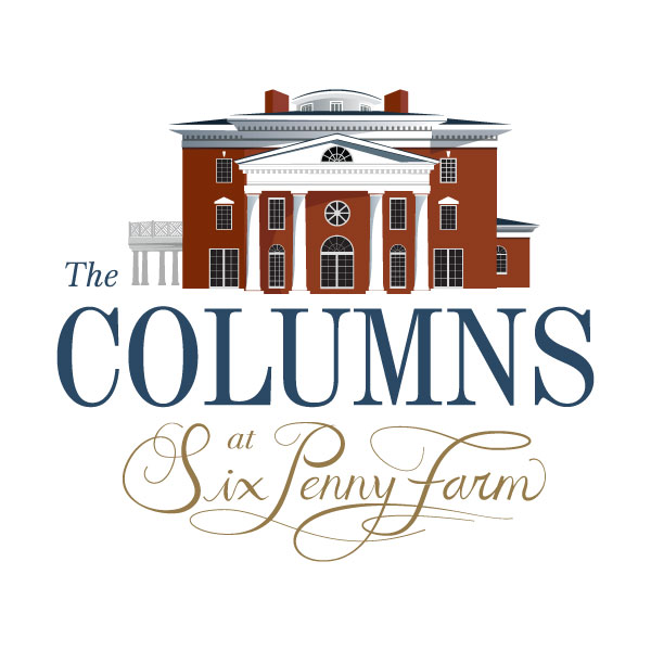 the columns at six penny farm logo
