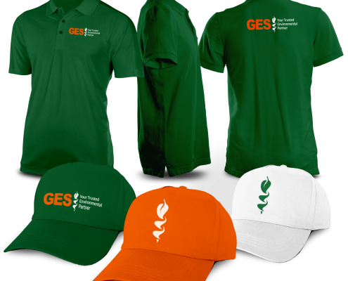ges hats and polo shirts