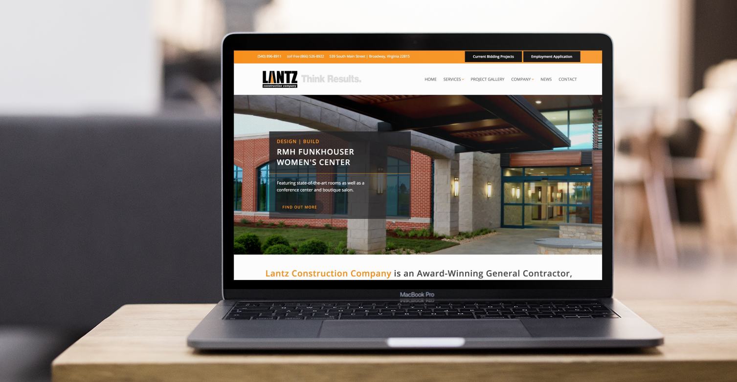 Lantz Construction Company Website Design & Development