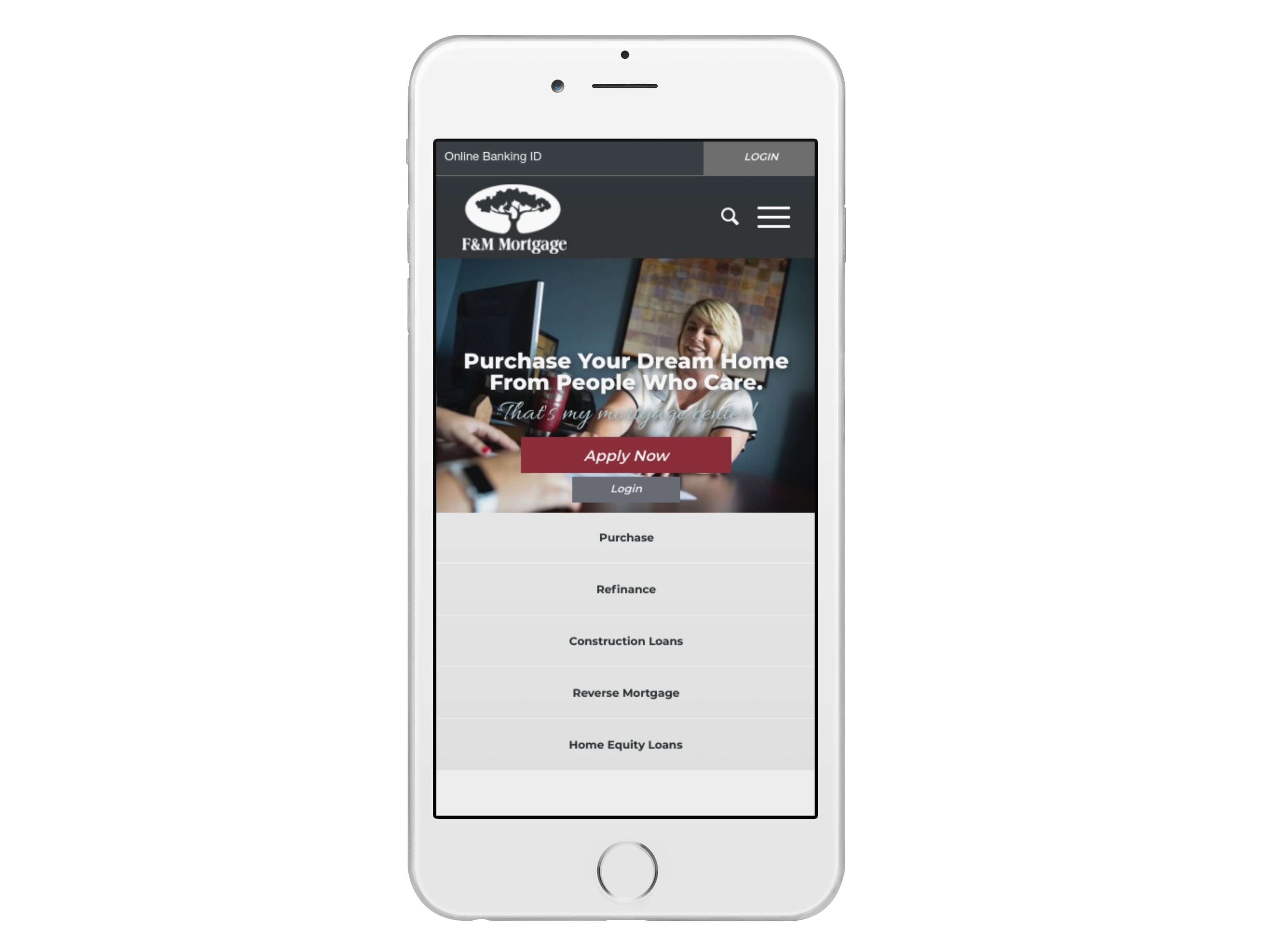 F&M's website is mobile friendly and accessible from anywhere in the world.